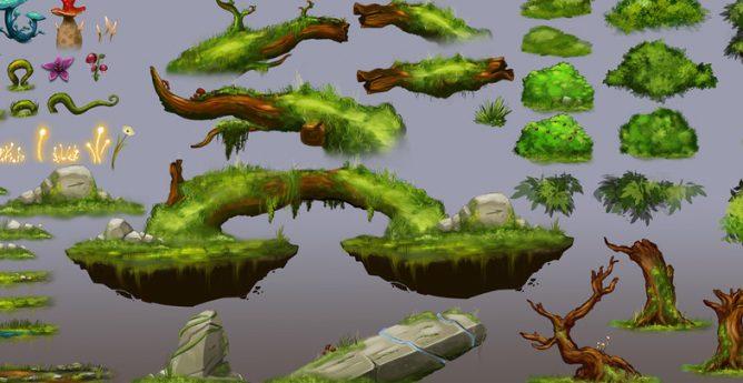 پکیج دو بعدی جنگل